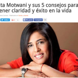 Kanta Motwani en la revista Tu Nueva Información